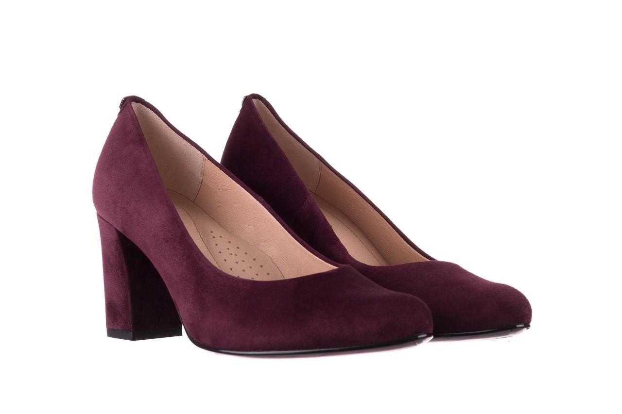 Czółenka bayla-056 9214-1321 fiolet zamsz 20, skóra naturalna  - na słupku - czółenka - buty damskie - kobieta 7