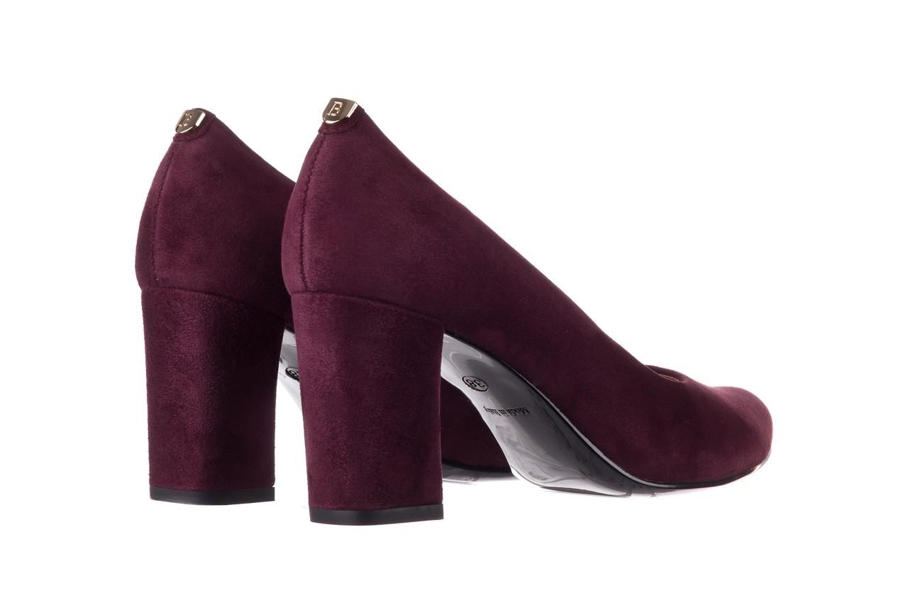 Czółenka bayla-056 9214-1321 fiolet zamsz 20, skóra naturalna  - na słupku - czółenka - buty damskie - kobieta 9