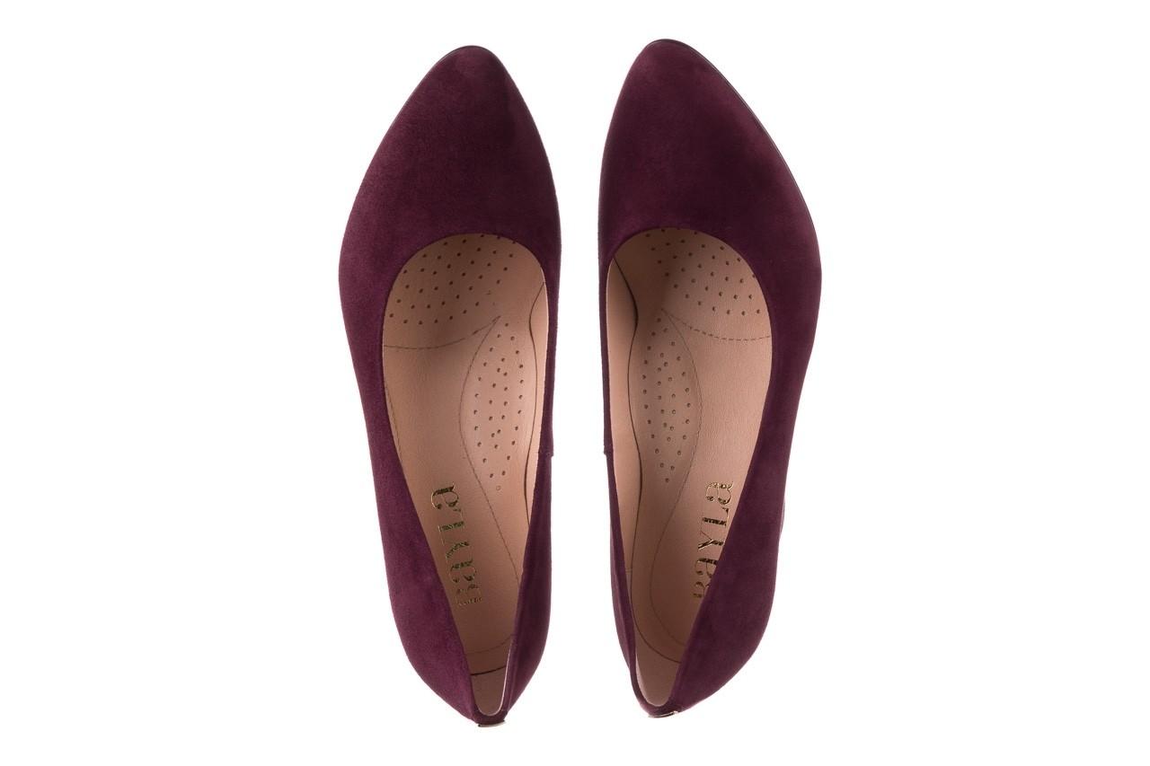 Czółenka bayla-056 9214-1321 fiolet zamsz 20, skóra naturalna  - na słupku - czółenka - buty damskie - kobieta 10