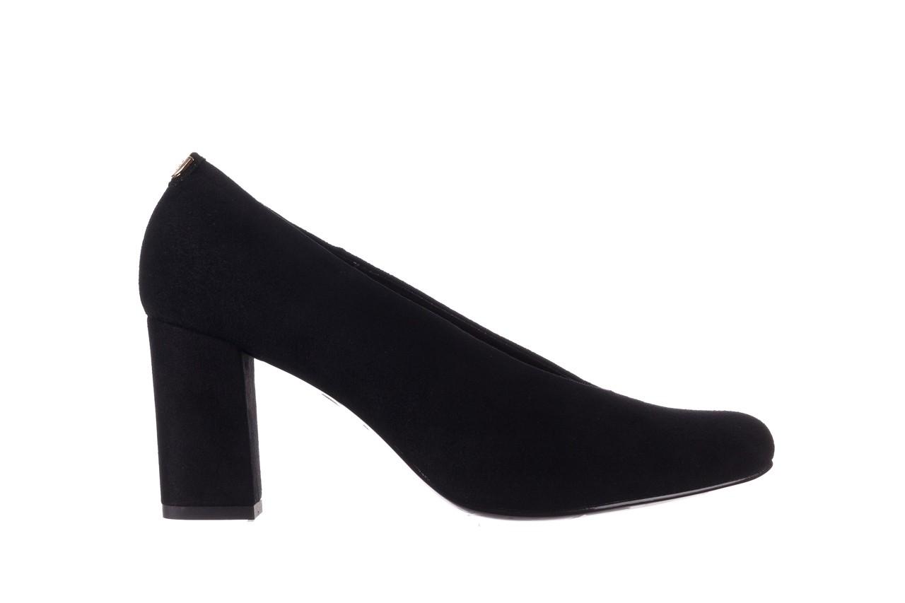 Czółenka bayla-056 9227-21 czarny zamsz, skóra naturalna - na słupku - czółenka - buty damskie - kobieta 6