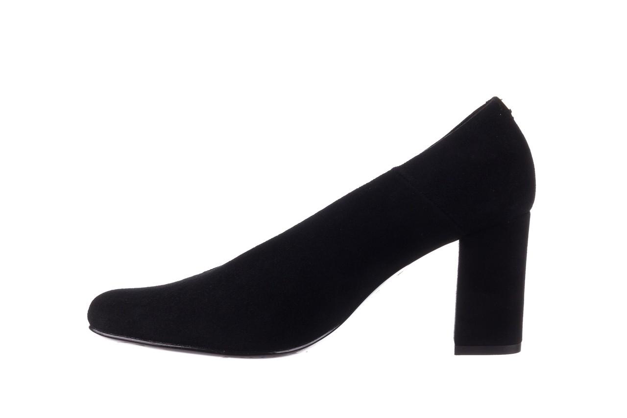 Czółenka bayla-056 9227-21 czarny zamsz, skóra naturalna - na słupku - czółenka - buty damskie - kobieta 8