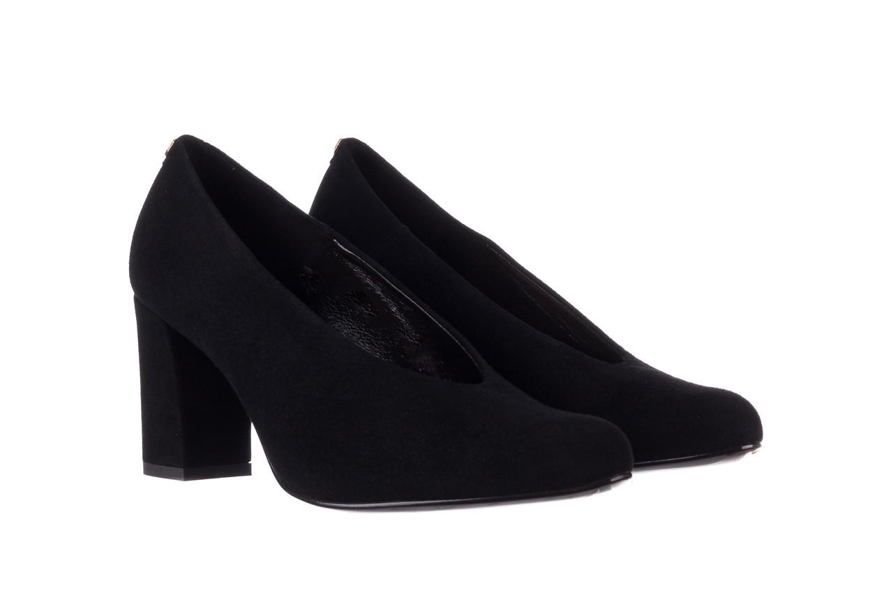 Czółenka bayla-056 9227-21 czarny zamsz, skóra naturalna - na słupku - czółenka - buty damskie - kobieta 7