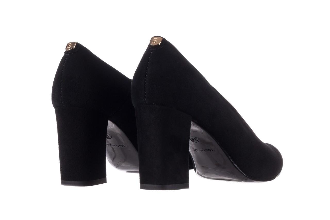 Czółenka bayla-056 9227-21 czarny zamsz, skóra naturalna - na słupku - czółenka - buty damskie - kobieta 9