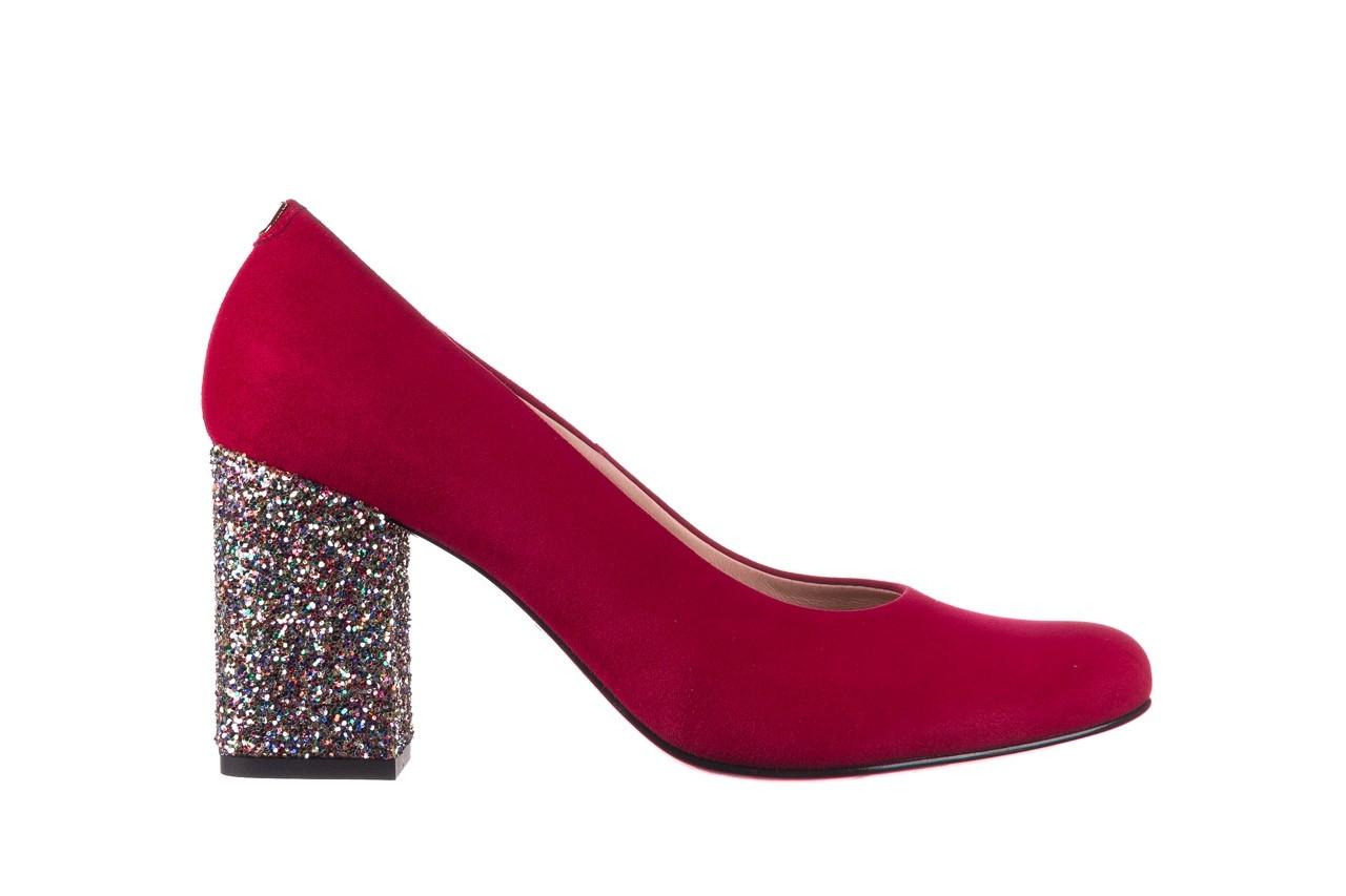 Czółenka bayla-056 7063-1432 bordo glitter, skóra naturalna  - do szpica - szpilki - buty damskie - kobieta 6