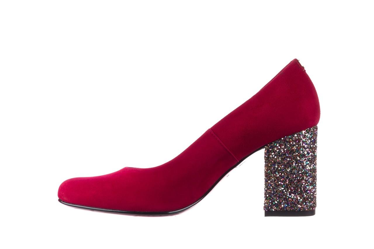 Czółenka bayla-056 7063-1432 bordo glitter, skóra naturalna  - do szpica - szpilki - buty damskie - kobieta 8