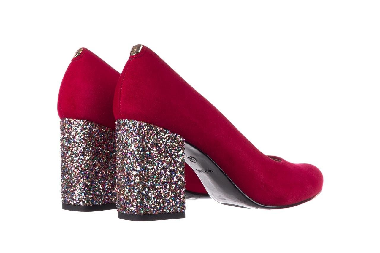 Czółenka bayla-056 7063-1432 bordo glitter, skóra naturalna  - do szpica - szpilki - buty damskie - kobieta 9