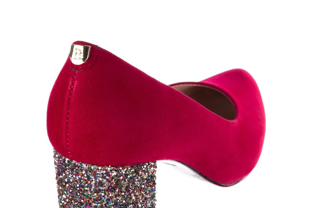Czółenka bayla-056 7063-1432 bordo glitter, skóra naturalna  - do szpica - szpilki - buty damskie - kobieta 11