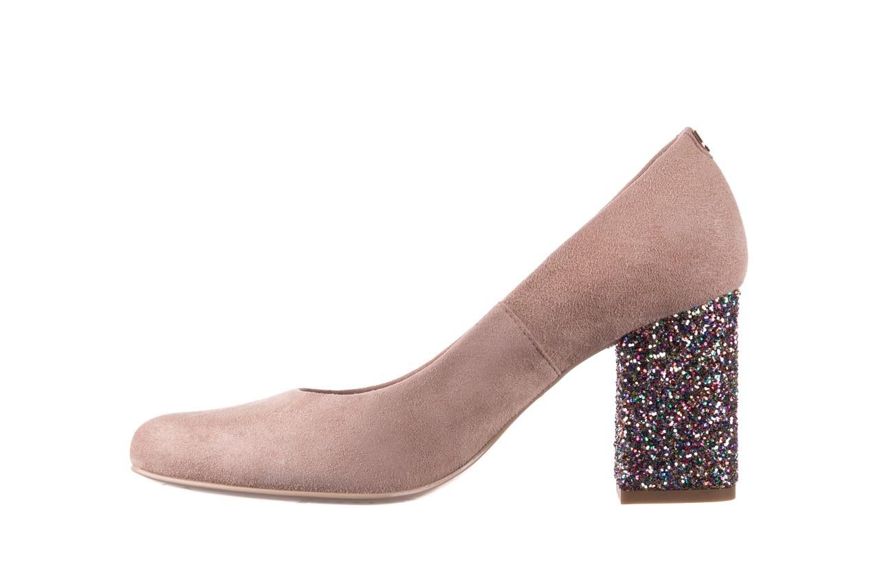 Czółenka bayla-056 7063-140 beż glitter, skóra naturalna  - zamszowe - szpilki - buty damskie - kobieta 8