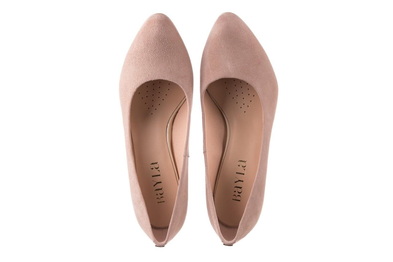 Czółenka bayla-056 7063-140 beż glitter, skóra naturalna  - zamszowe - szpilki - buty damskie - kobieta 10