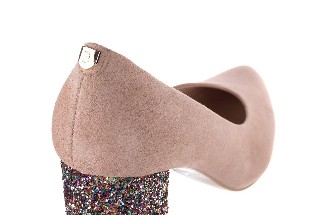 Czółenka bayla-056 7063-140 beż glitter, skóra naturalna  - zamszowe - szpilki - buty damskie - kobieta 11