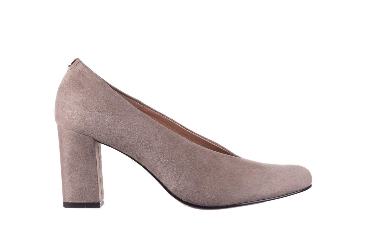 Czółenka bayla-056 9227-1318 szary zamsz, skóra naturalna  - zamszowe - czółenka - buty damskie - kobieta 6