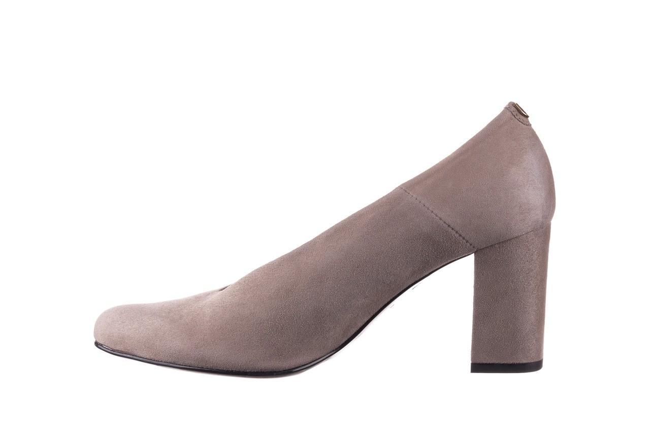 Czółenka bayla-056 9227-1318 szary zamsz, skóra naturalna  - zamszowe - czółenka - buty damskie - kobieta 8