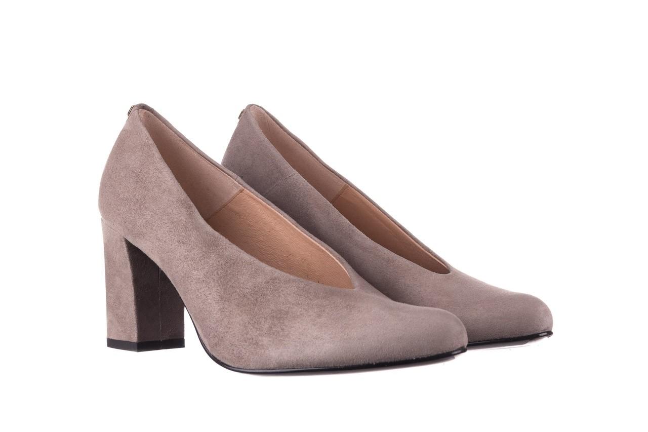 Czółenka bayla-056 9227-1318 szary zamsz, skóra naturalna  - zamszowe - czółenka - buty damskie - kobieta 7