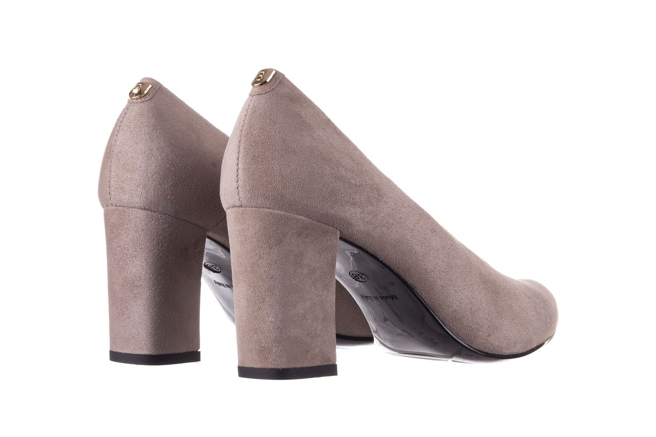 Czółenka bayla-056 9227-1318 szary zamsz, skóra naturalna  - zamszowe - czółenka - buty damskie - kobieta 9
