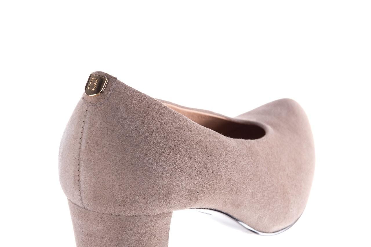 Czółenka bayla-056 9227-1318 szary zamsz, skóra naturalna  - zamszowe - czółenka - buty damskie - kobieta 11