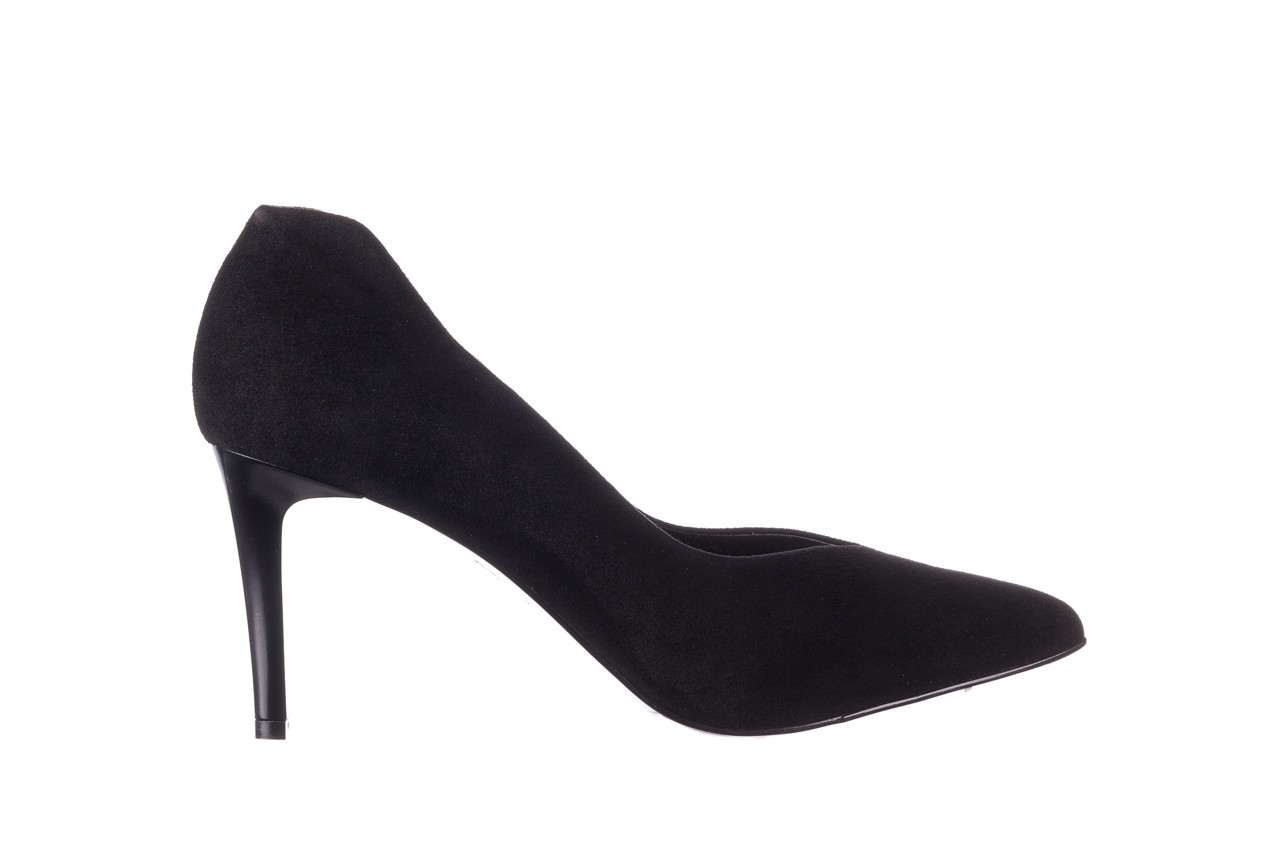 Szpilki bayla-056 9225-21 czarny zamsz, skóra naturalna  - do szpica - szpilki - buty damskie - kobieta 6