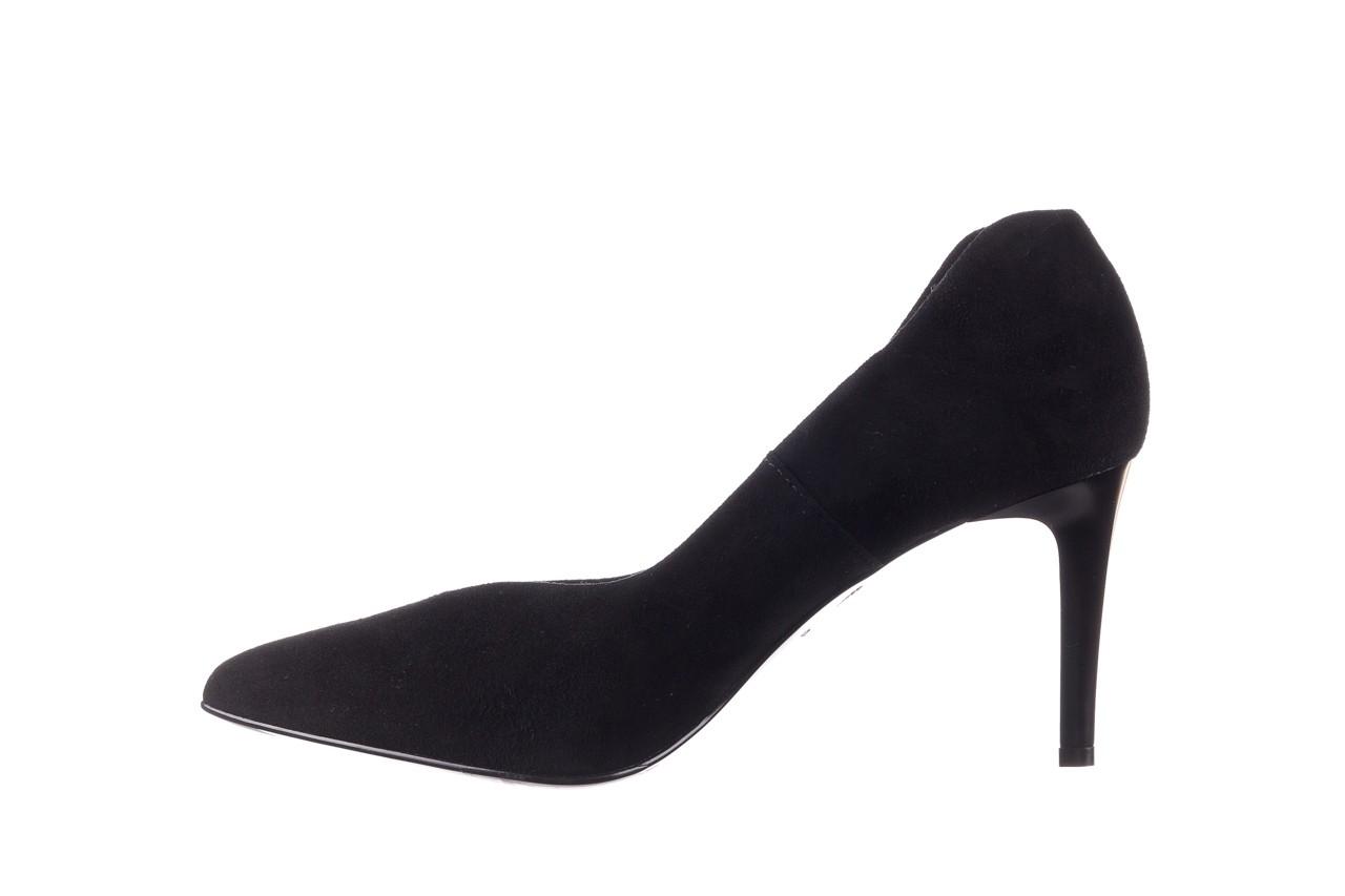 Szpilki bayla-056 9225-21 czarny zamsz, skóra naturalna  - do szpica - szpilki - buty damskie - kobieta 8
