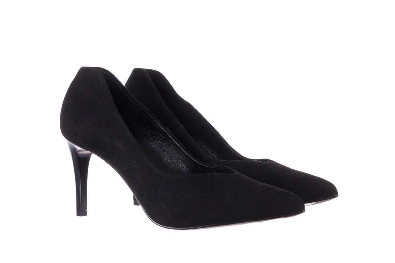 Szpilki bayla-056 9225-21 czarny zamsz, skóra naturalna  - do szpica - szpilki - buty damskie - kobieta 7