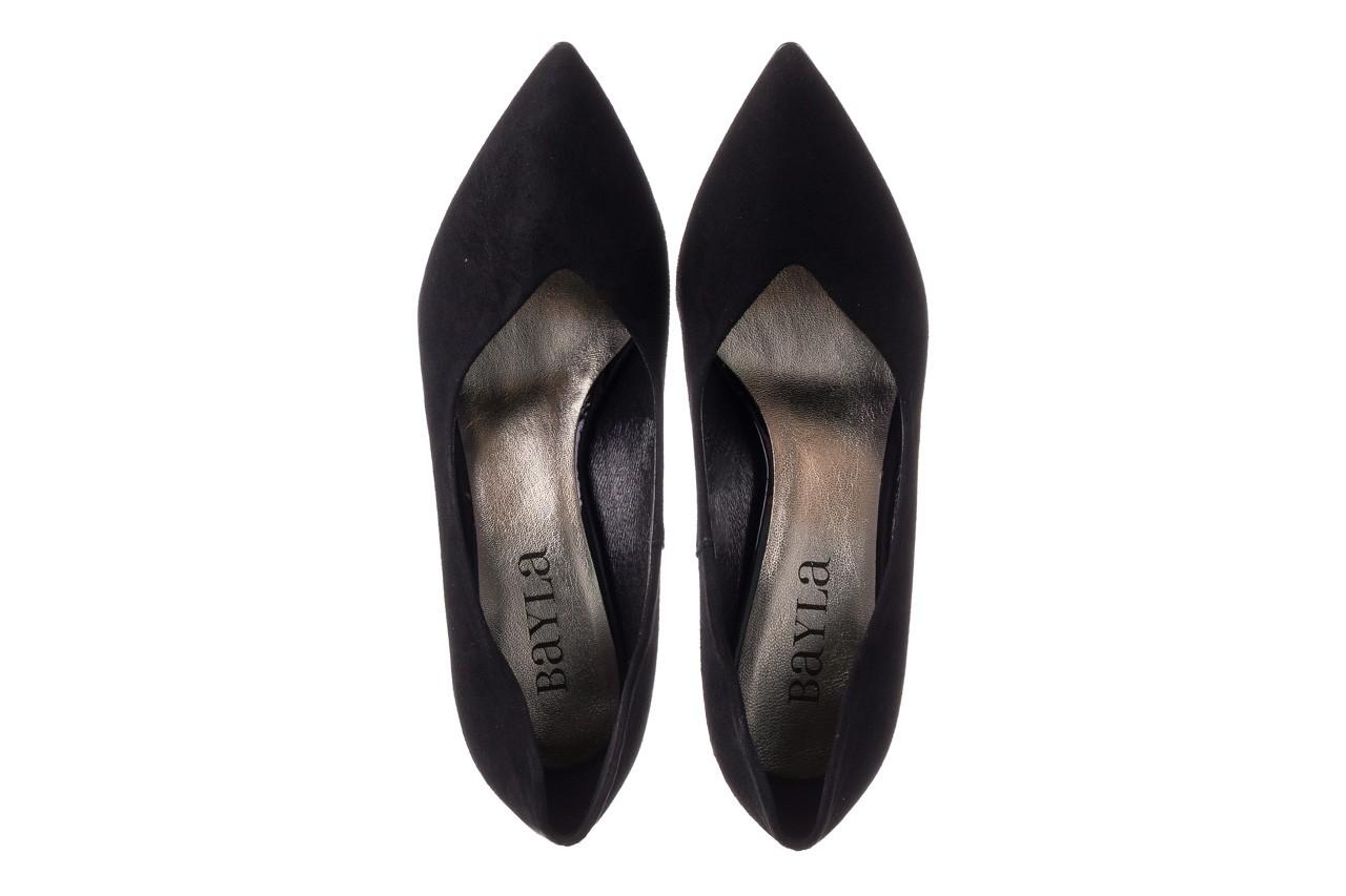 Szpilki bayla-056 9225-21 czarny zamsz, skóra naturalna  - do szpica - szpilki - buty damskie - kobieta 10
