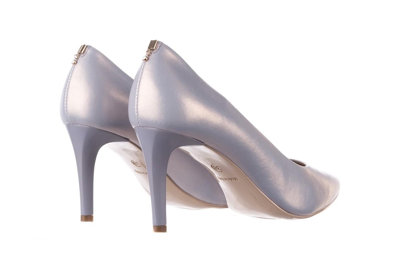 Czółenka bayla-056 7064-1448 szary perła 20, skóra naturalna  - szpilki - buty damskie - kobieta 9