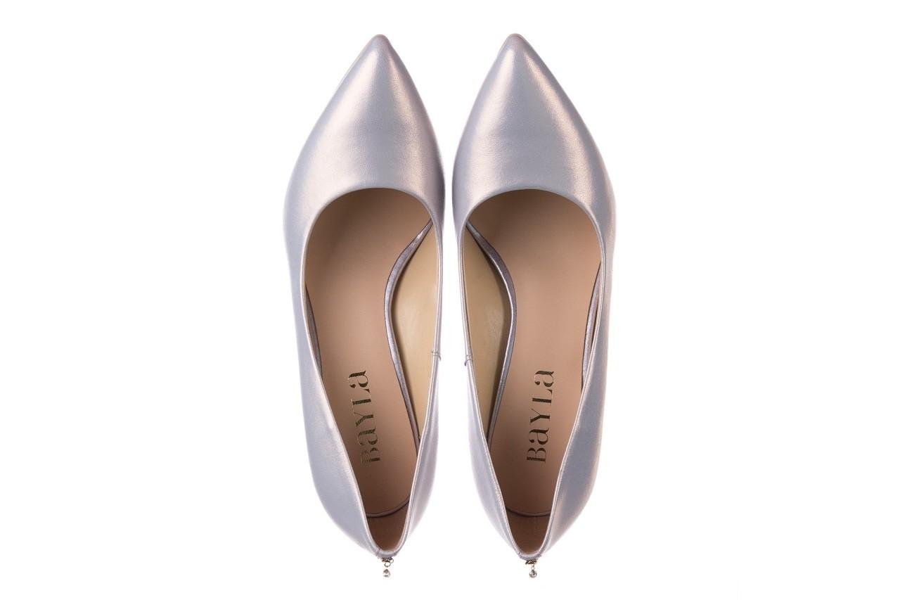 Czółenka bayla-056 7064-1448 szary perła 20, skóra naturalna  - szpilki - buty damskie - kobieta 10