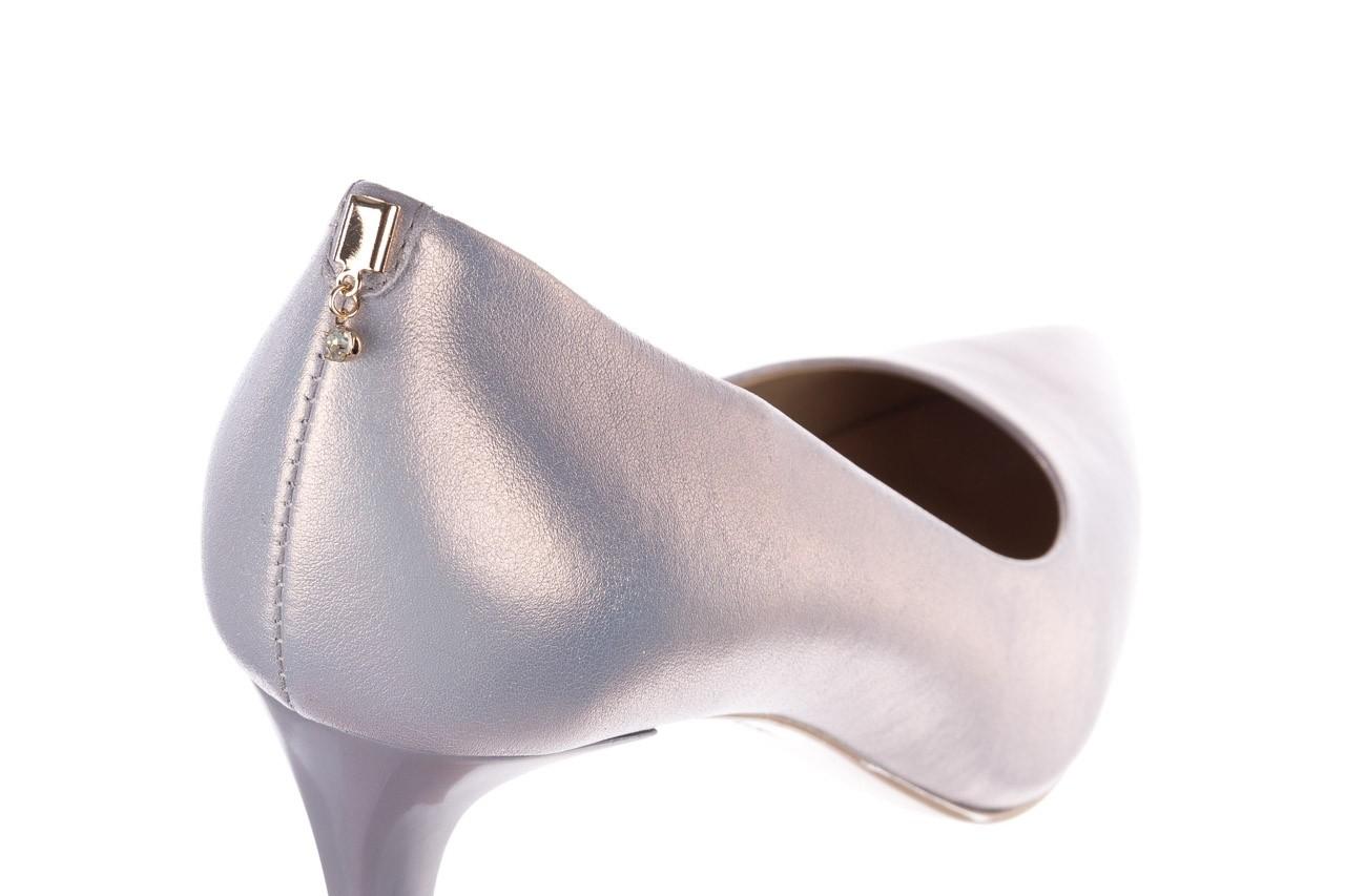 Czółenka bayla-056 7064-1448 szary perła 20, skóra naturalna  - szpilki - buty damskie - kobieta 11
