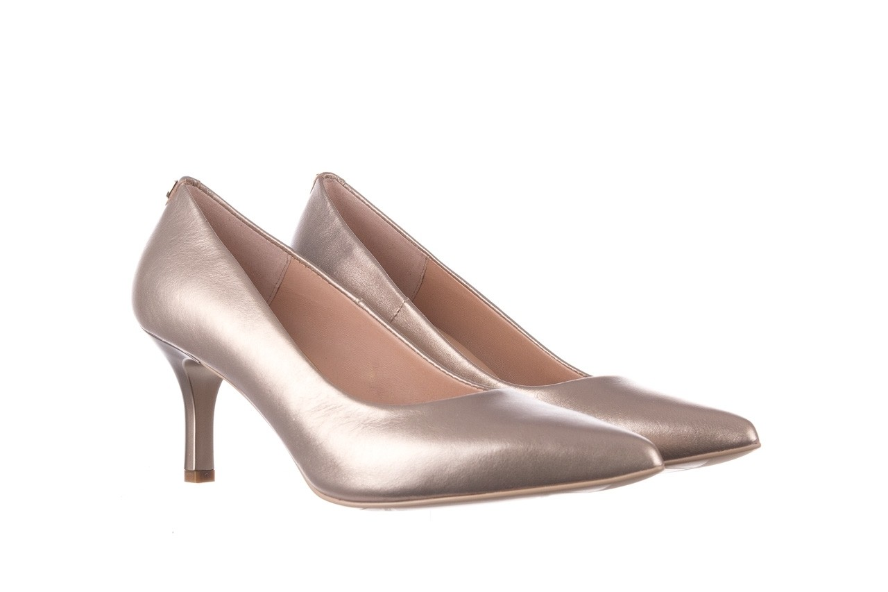 Czółenka bayla-056 9117-1099 beż perła 20, skóra naturalna  - szpilki - buty damskie - kobieta 7