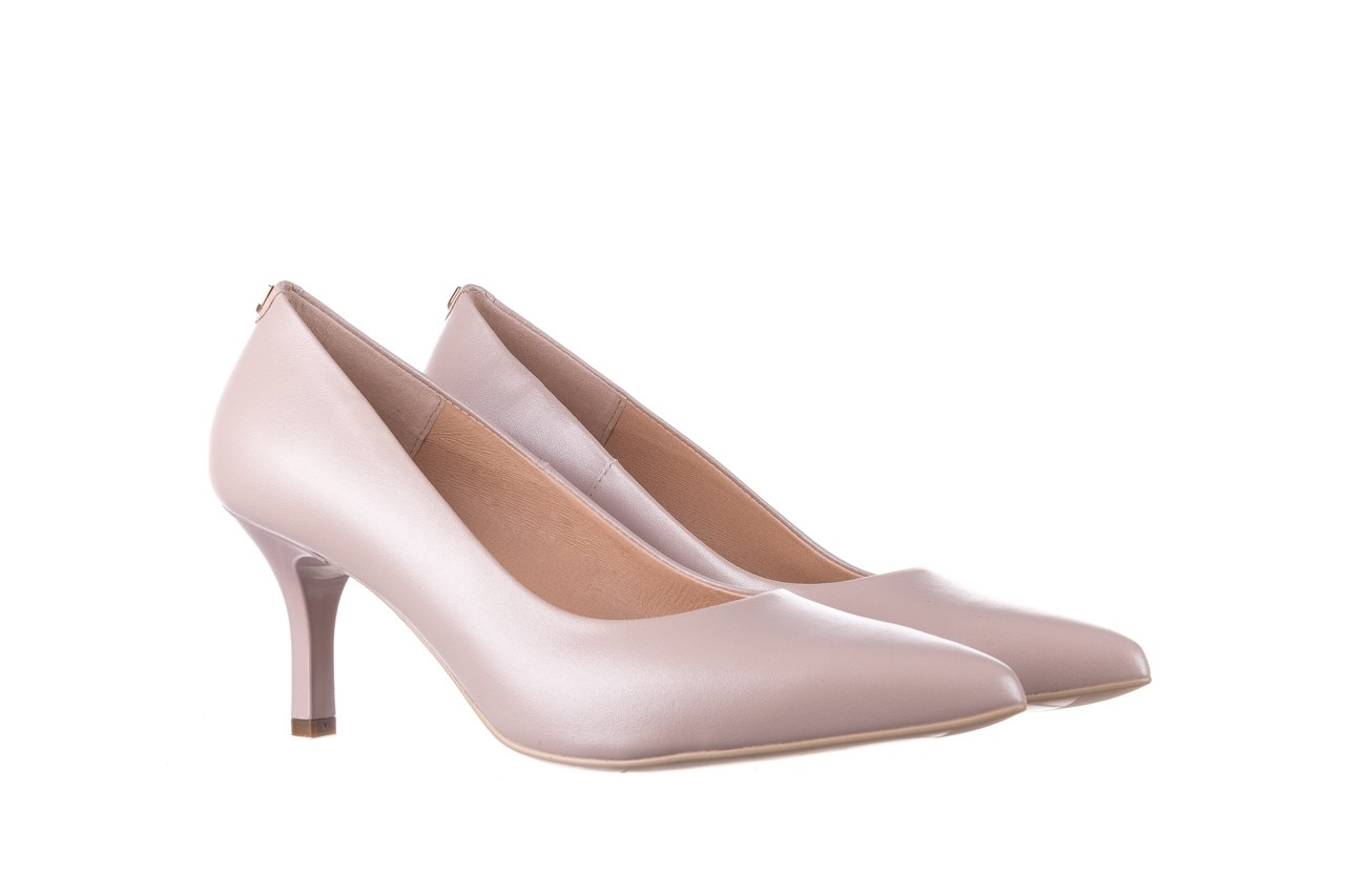 Czółenka bayla-056 9117-1460 róż perła, skóra naturalna  - skórzane - szpilki - buty damskie - kobieta 7