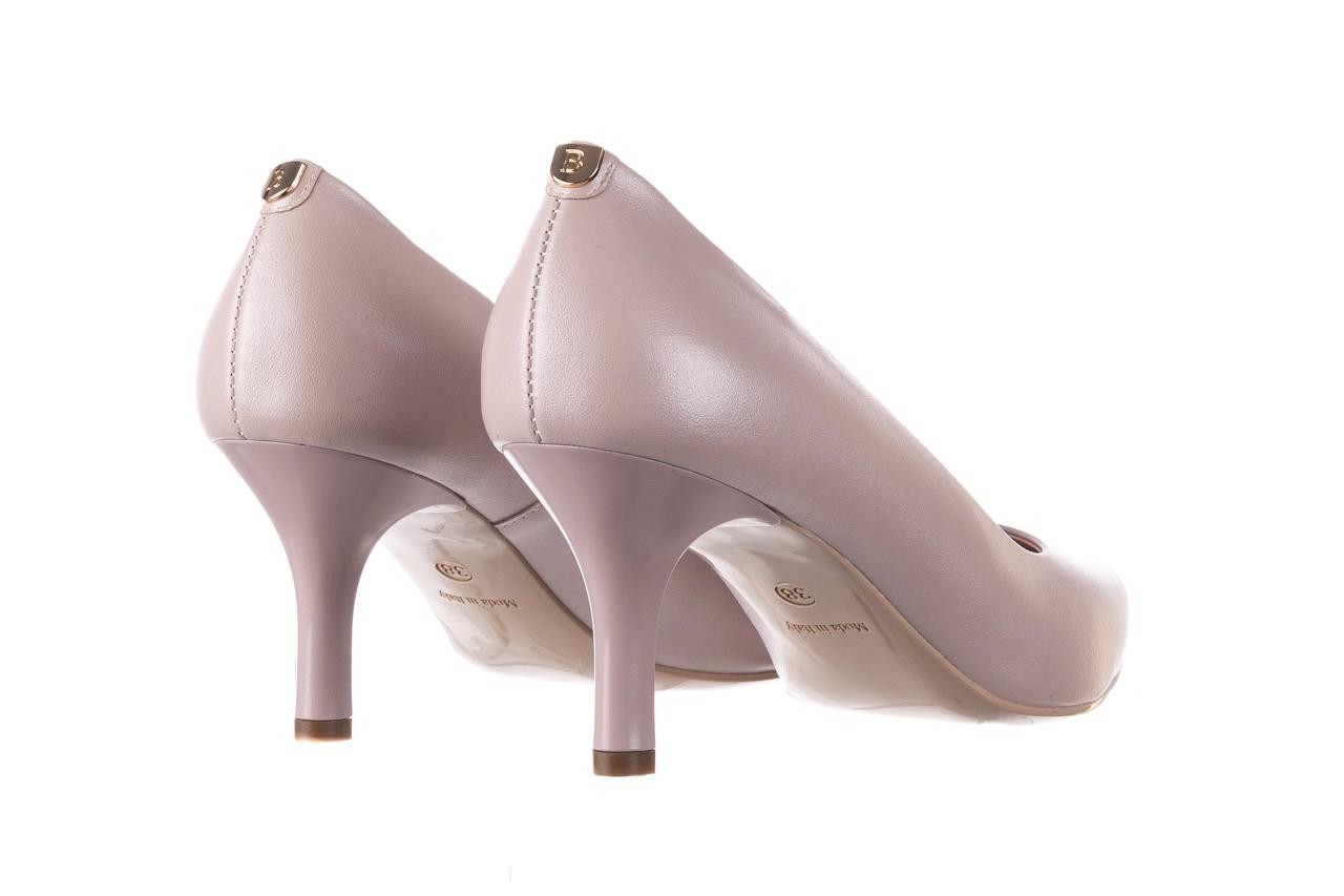 Czółenka bayla-056 9117-1460 róż perła, skóra naturalna  - skórzane - szpilki - buty damskie - kobieta 9