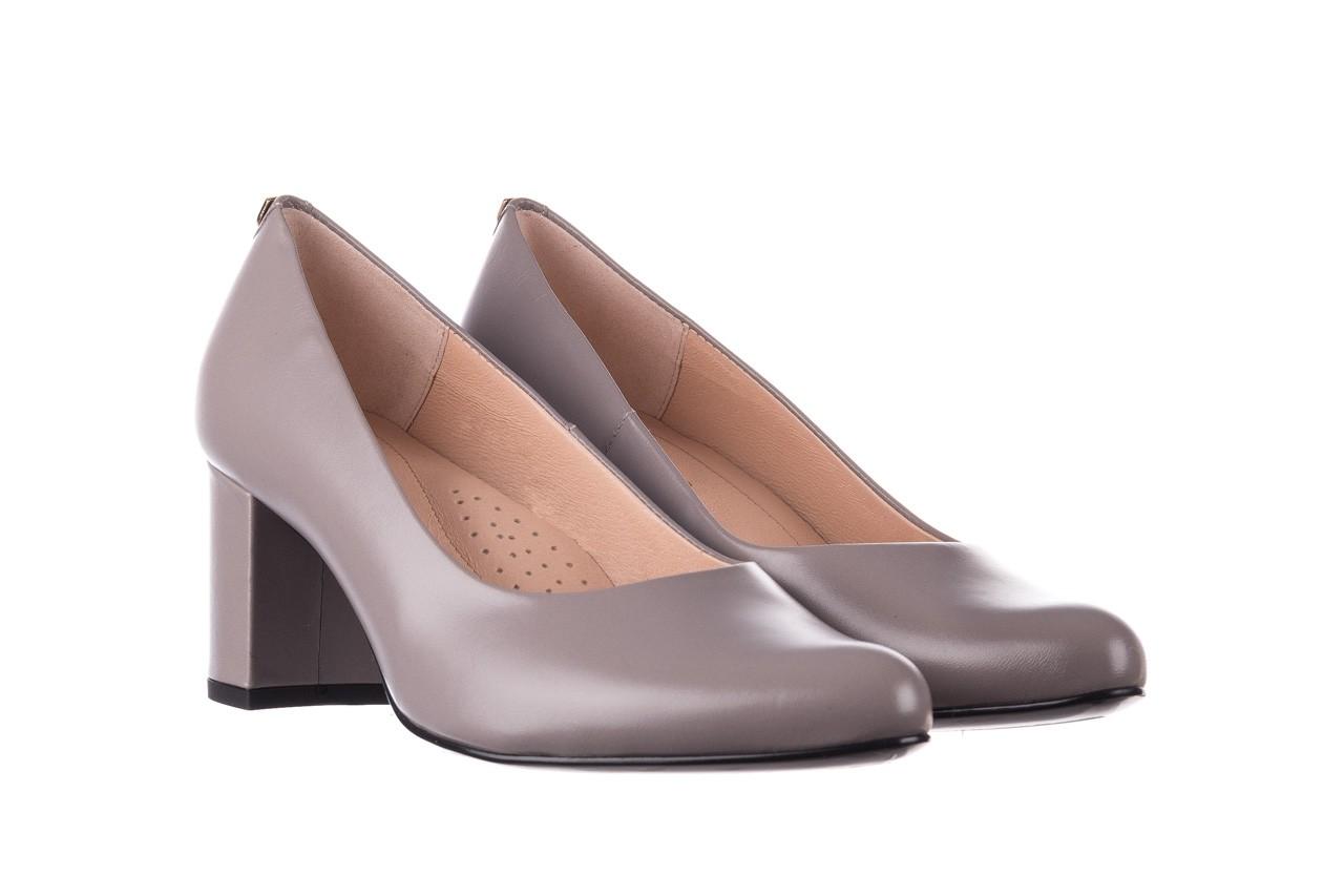 Czółenka bayla-056 9222-700 popiel, skóra naturalna  - skórzane - szpilki - buty damskie - kobieta 7