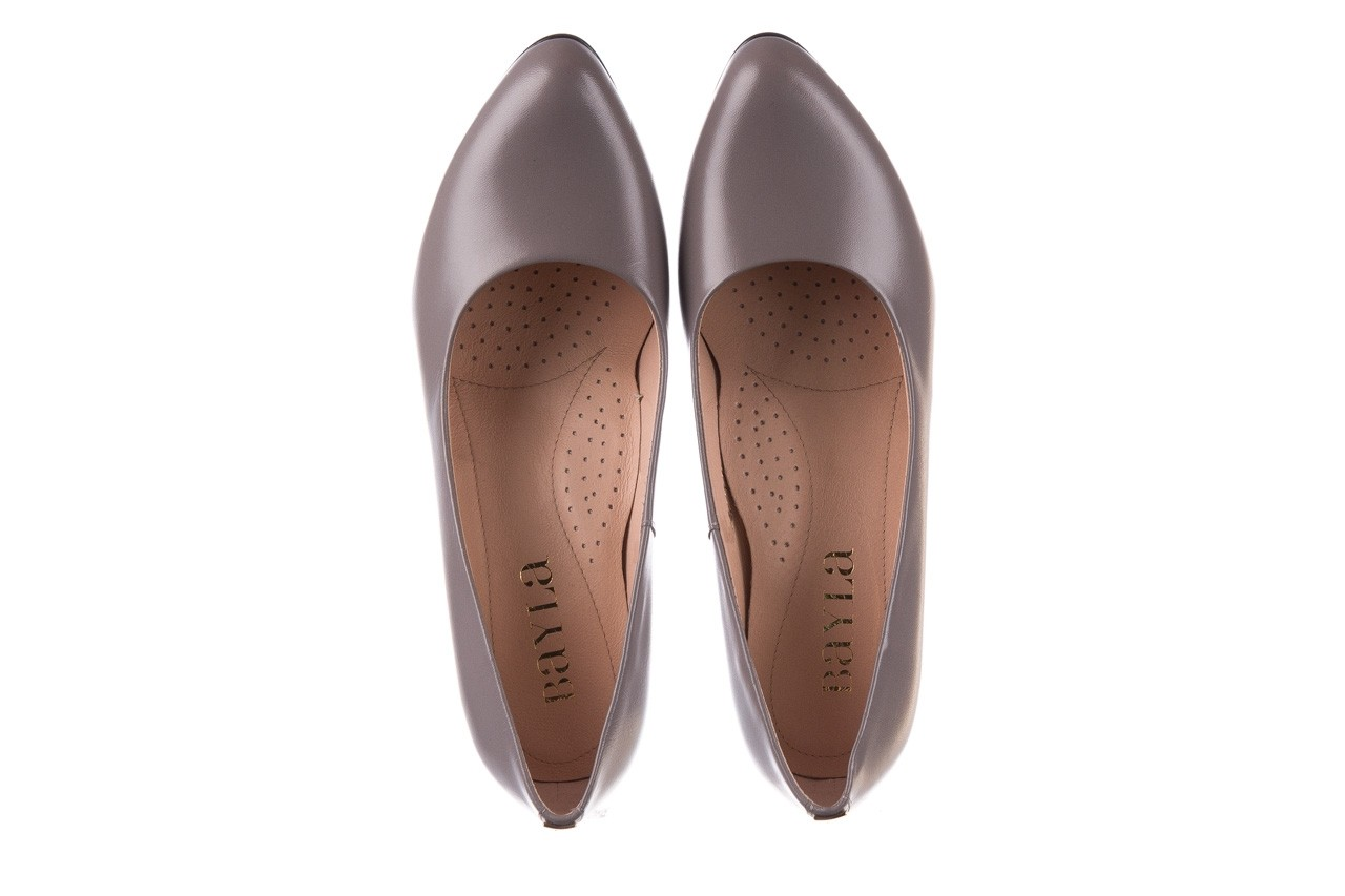 Czółenka bayla-056 9222-700 popiel, skóra naturalna  - skórzane - szpilki - buty damskie - kobieta 10
