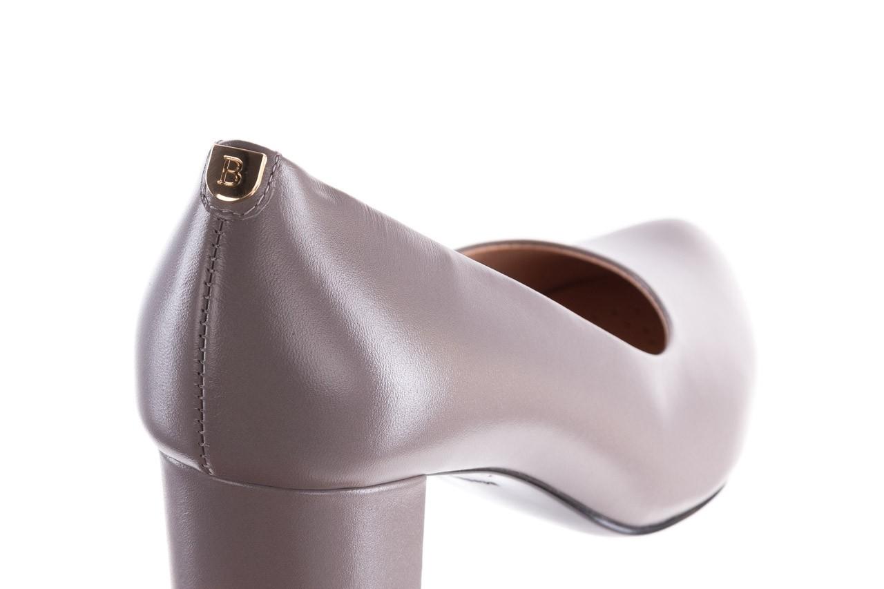 Czółenka bayla-056 9222-700 popiel, skóra naturalna  - skórzane - szpilki - buty damskie - kobieta 11