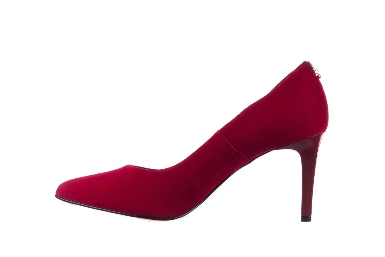 Szpilki bayla-056 7064-1432 bordo zamsz, skóra naturalna  - zamszowe - szpilki - buty damskie - kobieta 8