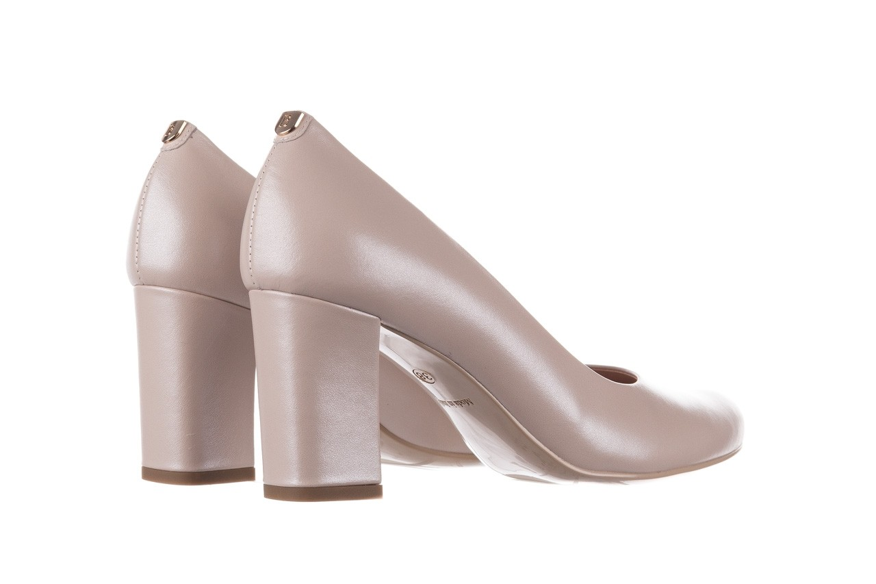 Czółenka bayla-056 9214-1459 beż perła, skóra naturalna  - czółenka - buty damskie - kobieta 9