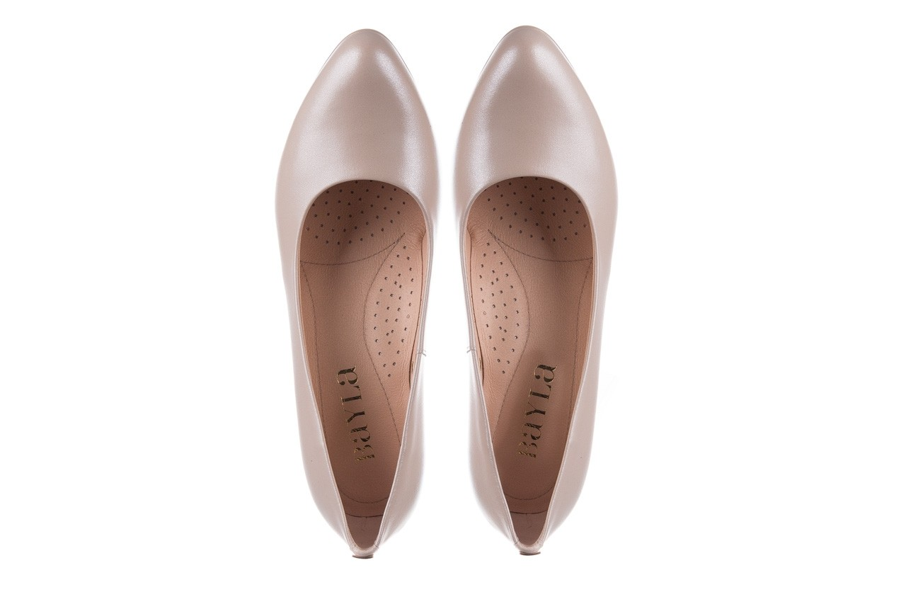 Czółenka bayla-056 9214-1459 beż perła, skóra naturalna  - czółenka - buty damskie - kobieta 10