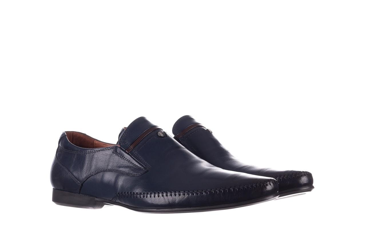 Mokasyny brooman 17931-151h677 niebieski, skóra naturalna  - mokasyny i espadryle - buty męskie - mężczyzna 8