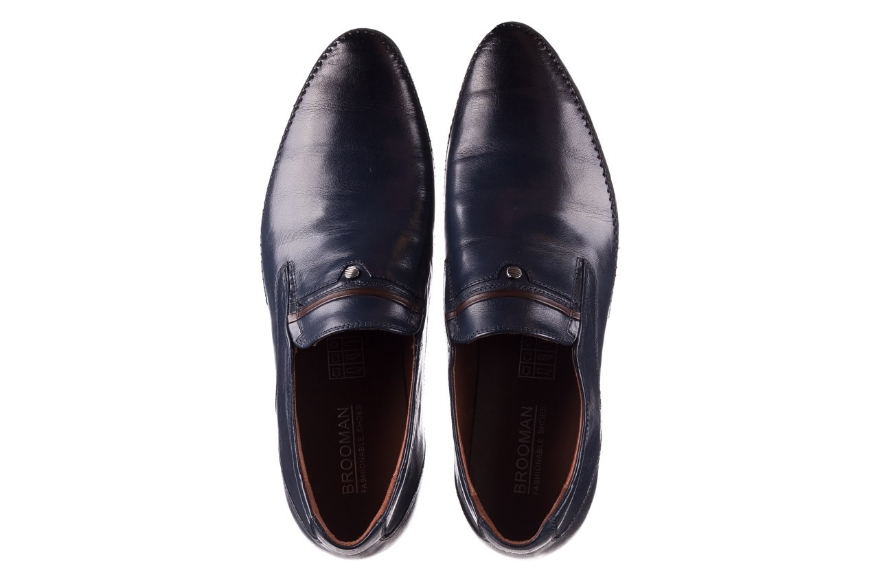 Mokasyny brooman 17931-151h677 niebieski, skóra naturalna  - mokasyny i espadryle - buty męskie - mężczyzna 11