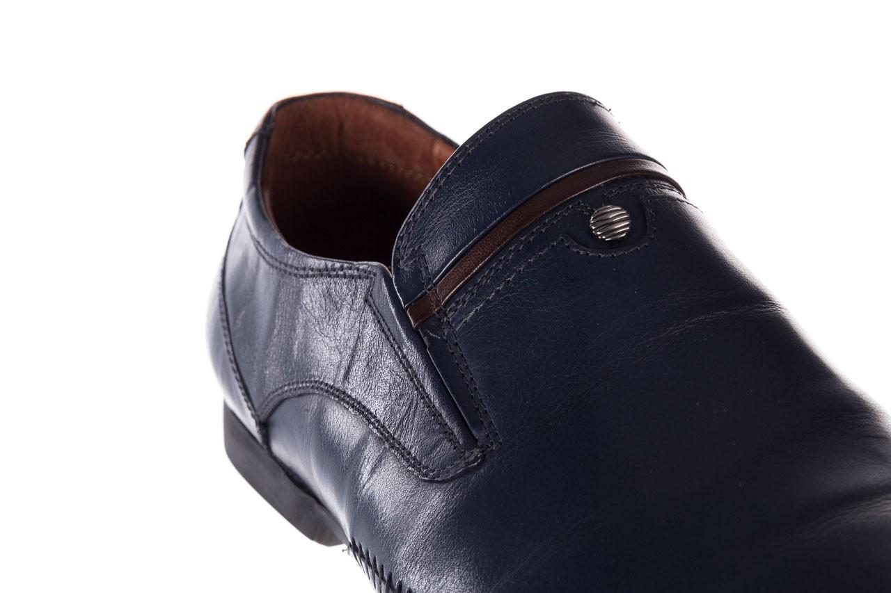 Mokasyny brooman 17931-151h677 niebieski, skóra naturalna  - mokasyny i espadryle - buty męskie - mężczyzna 13