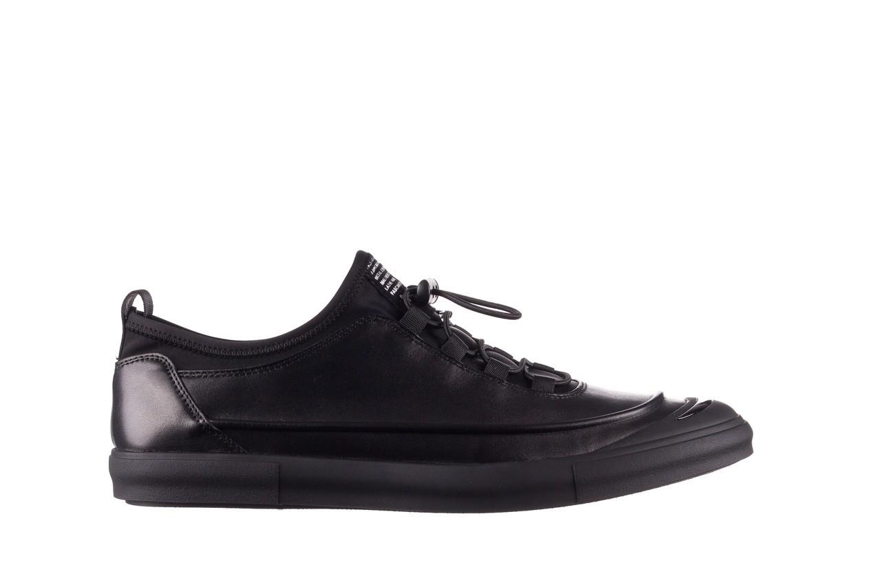 Trampki brooman b55117-1 czarny, skóra naturalna  - niskie - trampki - buty męskie - mężczyzna 8
