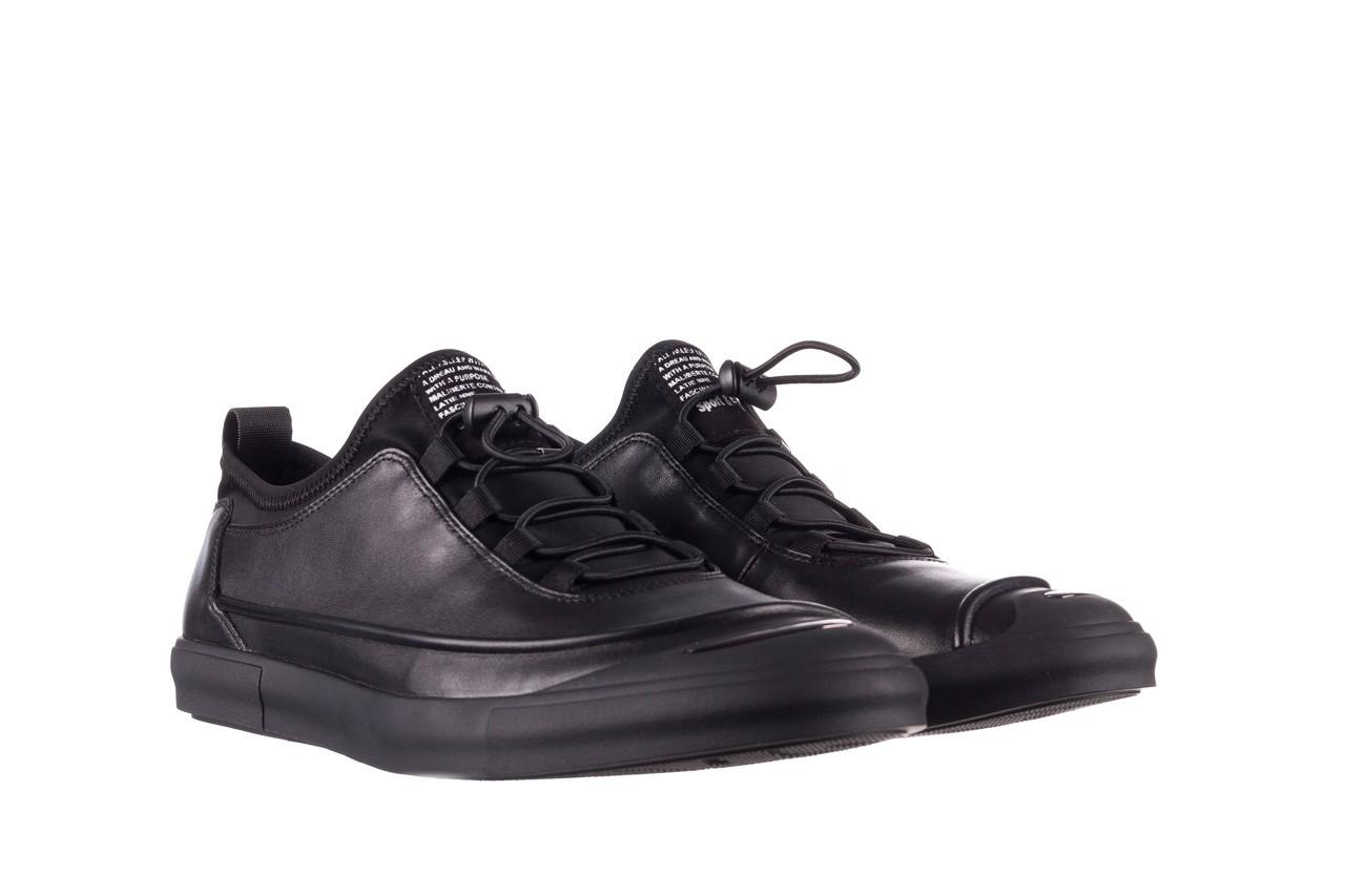 Trampki brooman b55117-1 czarny, skóra naturalna  - niskie - trampki - buty męskie - mężczyzna 9