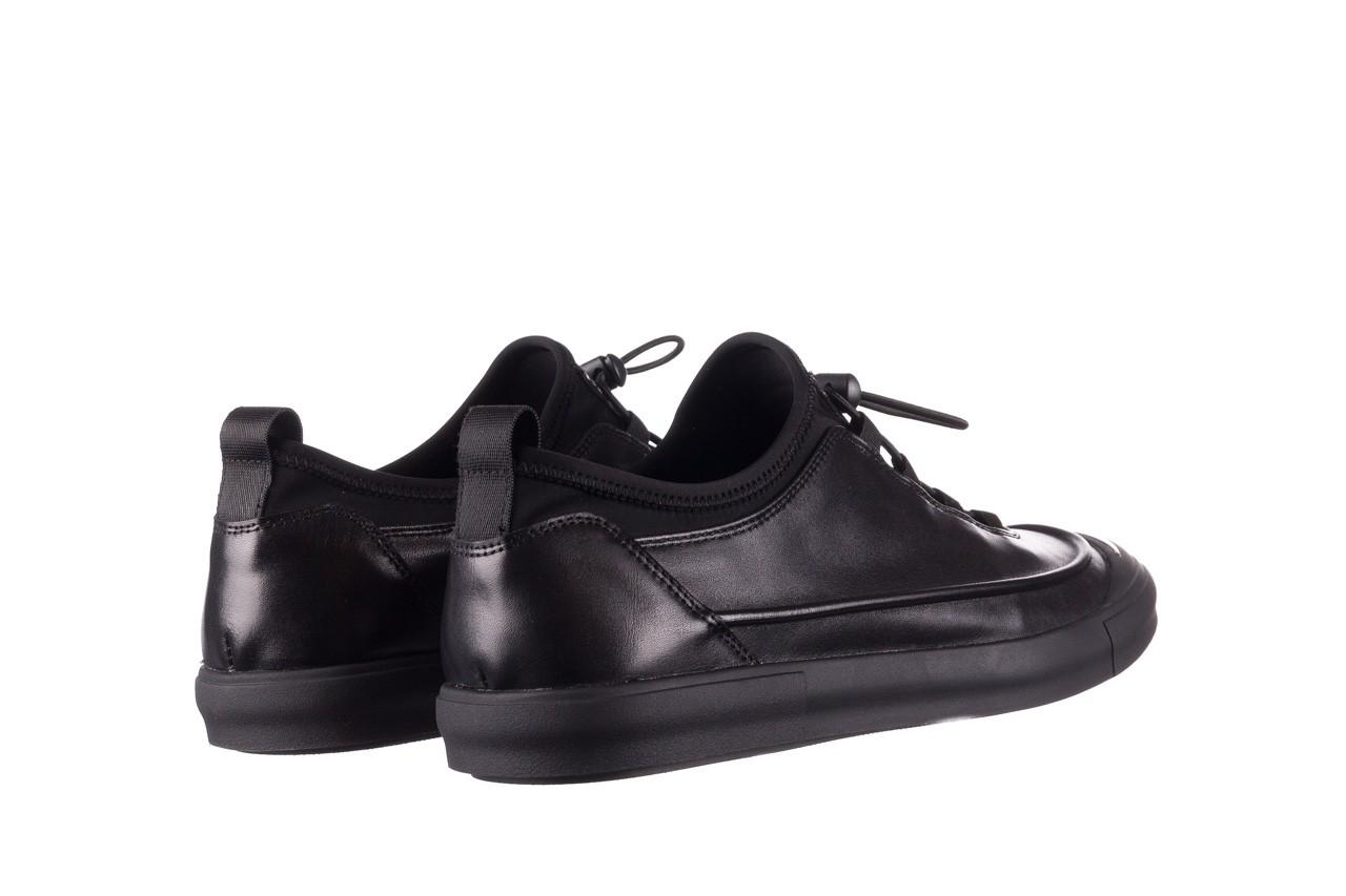 Trampki brooman b55117-1 czarny, skóra naturalna  - niskie - trampki - buty męskie - mężczyzna 11