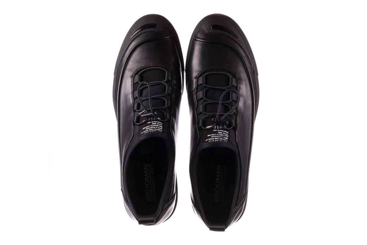 Trampki brooman b55117-1 czarny, skóra naturalna  - niskie - trampki - buty męskie - mężczyzna 12