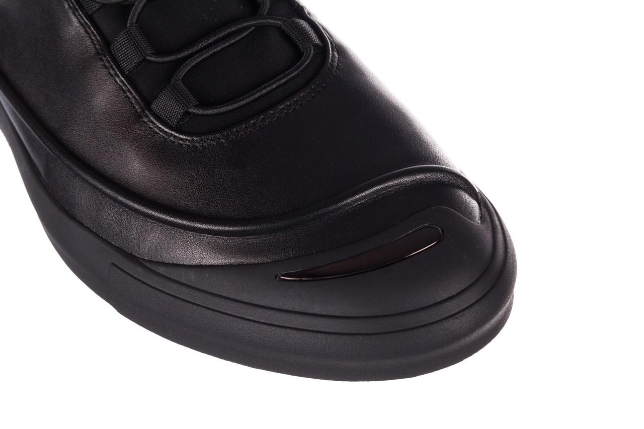 Trampki brooman b55117-1 czarny, skóra naturalna  - niskie - trampki - buty męskie - mężczyzna 13