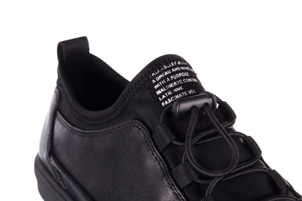Trampki brooman b55117-1 czarny, skóra naturalna  - niskie - trampki - buty męskie - mężczyzna 15
