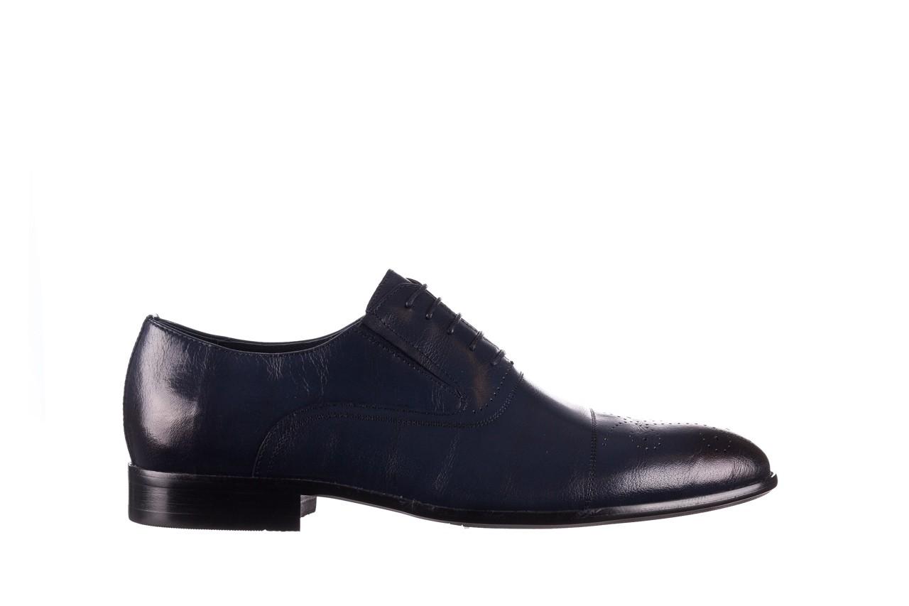Półbuty brooman ja190-708a-j15 niebieski, skóra naturalna  - półbuty - buty męskie - mężczyzna 7