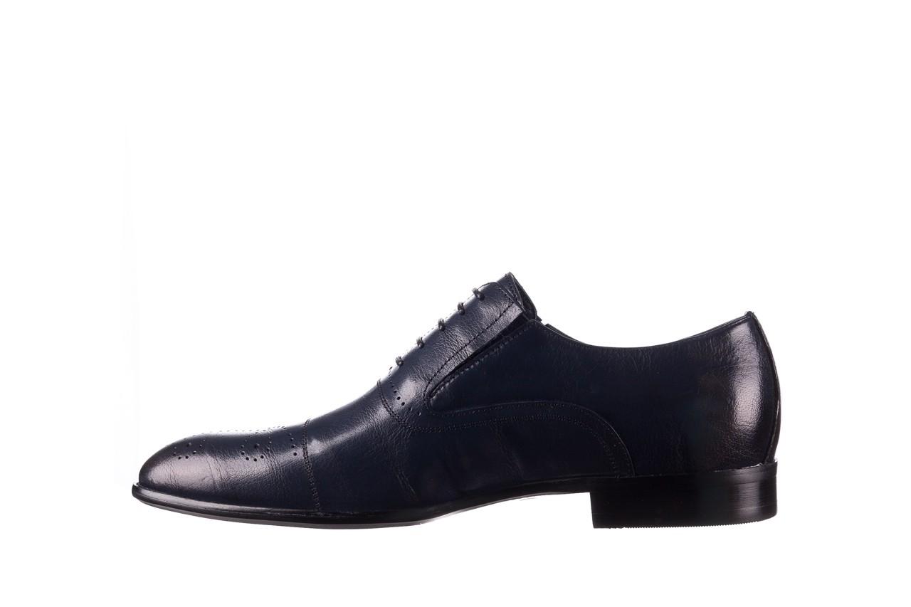 Półbuty brooman ja190-708a-j15 niebieski, skóra naturalna  - półbuty - buty męskie - mężczyzna 9