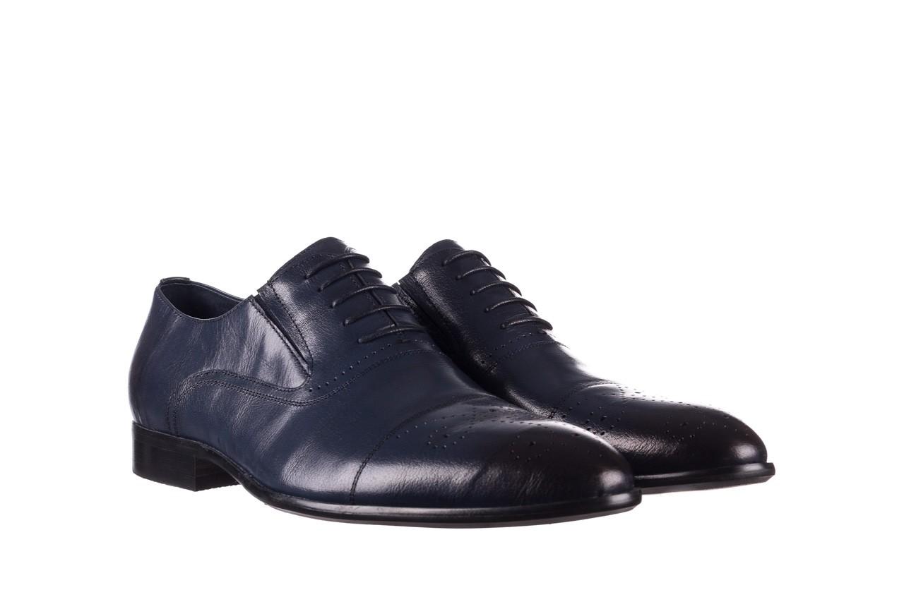 Półbuty brooman ja190-708a-j15 niebieski, skóra naturalna  - półbuty - buty męskie - mężczyzna 8