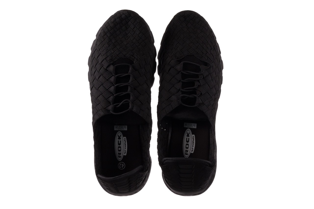 Trampki rock haneda men black, czarny, materiał 11