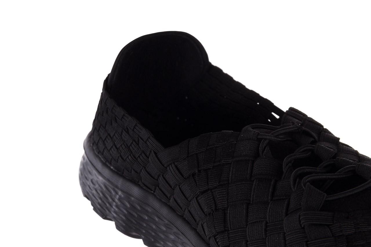 Trampki rock haneda men black, czarny, materiał 12