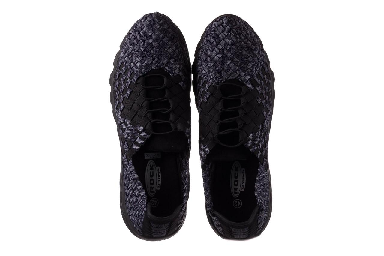 Trampki rock haneda men black ratan, granat/ czarny, materiał - sale - buty męskie - mężczyzna 11